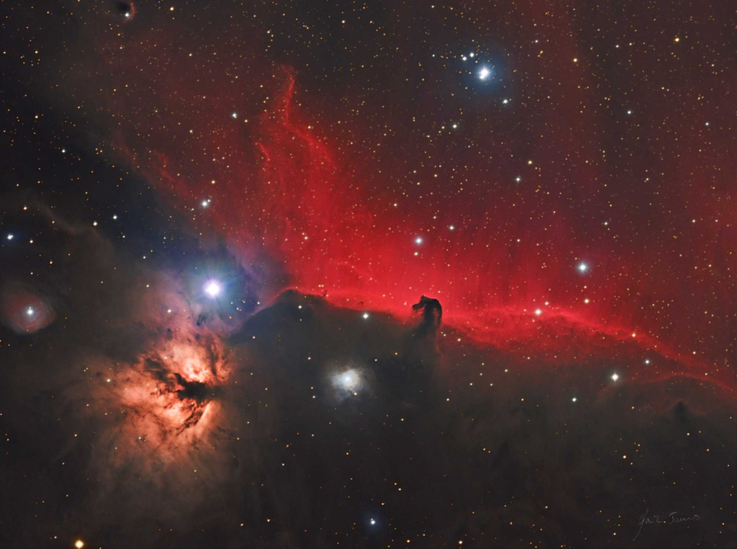 The Flame and Horseshoe Nebulae